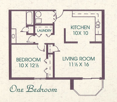 1 Bedroom 800 Sq Ft Meadows Park Apartments402 896 5100